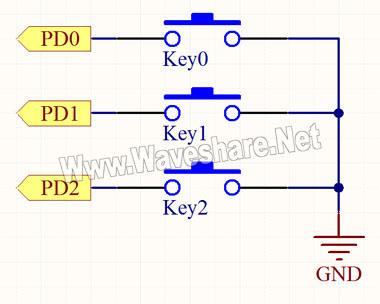 独立按键电路原理图