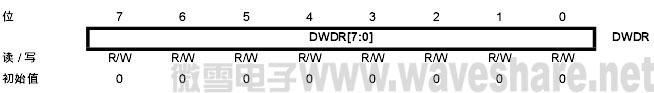 mega168 debugWIRE数据寄存器-DWDR