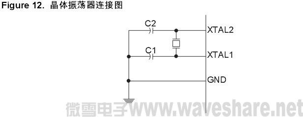 mega32晶体振荡器连接图