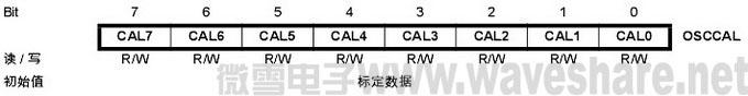 mega32振荡器标定寄存器OSCCAL