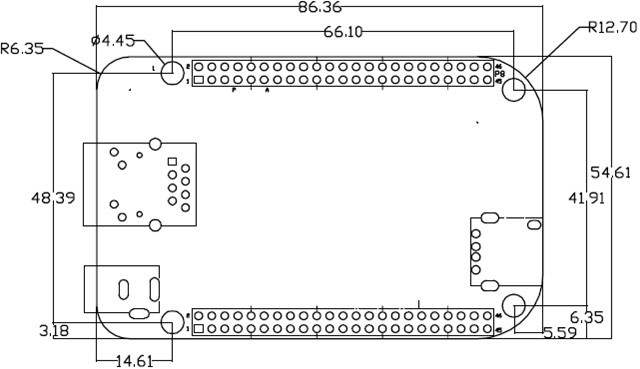 0 host接口(usb a型连接器)  一个tf卡接口(兼容sd/mmc)  一个3线调试