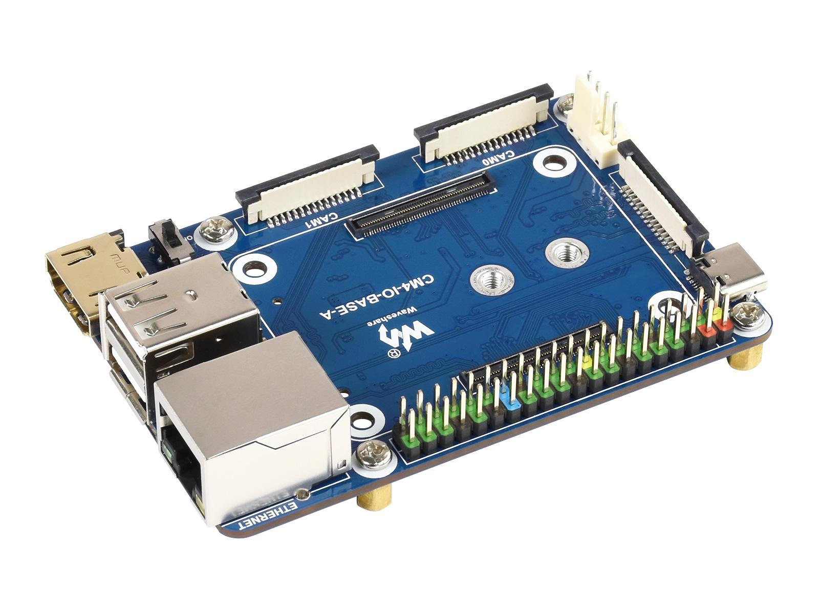 树莓派迷你Compute Module 4基础扩展板精简版 计算模块核心板底板