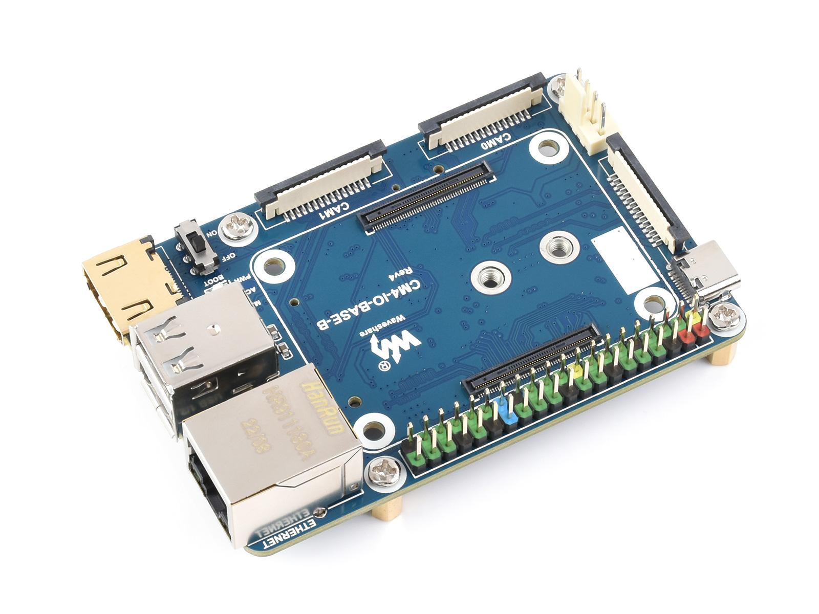 树莓派迷你Compute Module 4基础扩展板 计算模块核心板底板