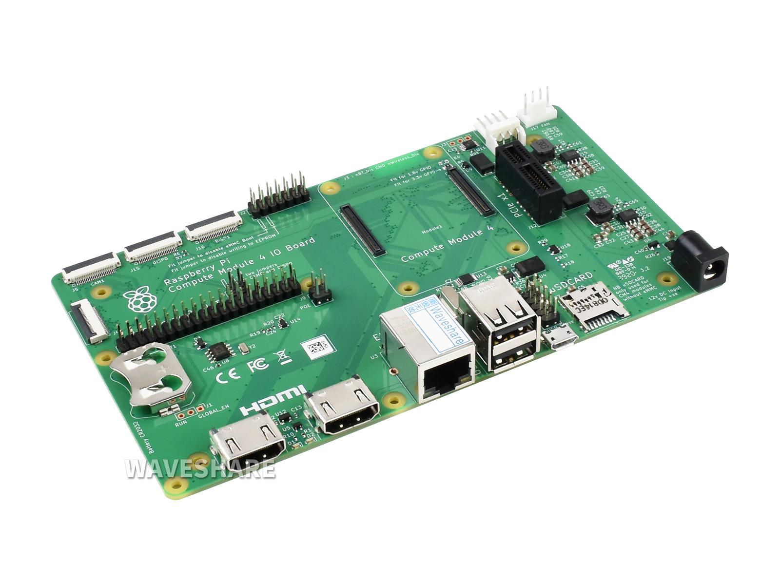 树莓派计算模块核心板底板Compute module 4 IO Board 适用于CM4 所有版本