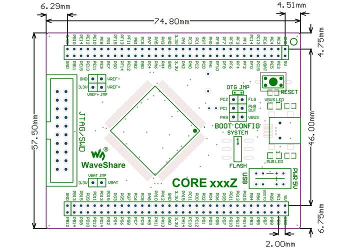stm32 cortex m4开发板 core407z