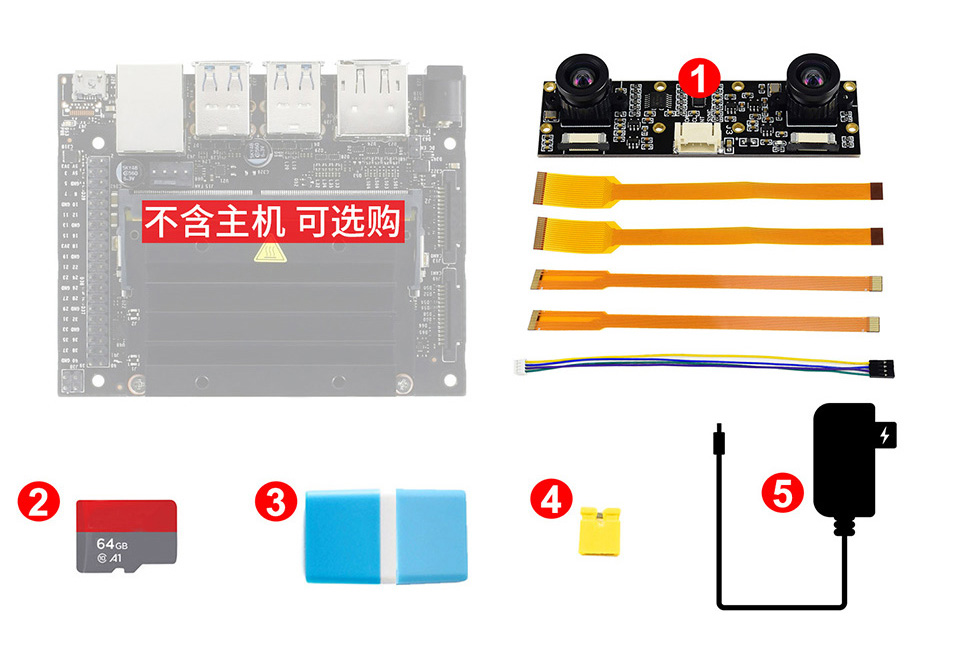 Jetson Nano Developer Kit (配件包D)配件详细