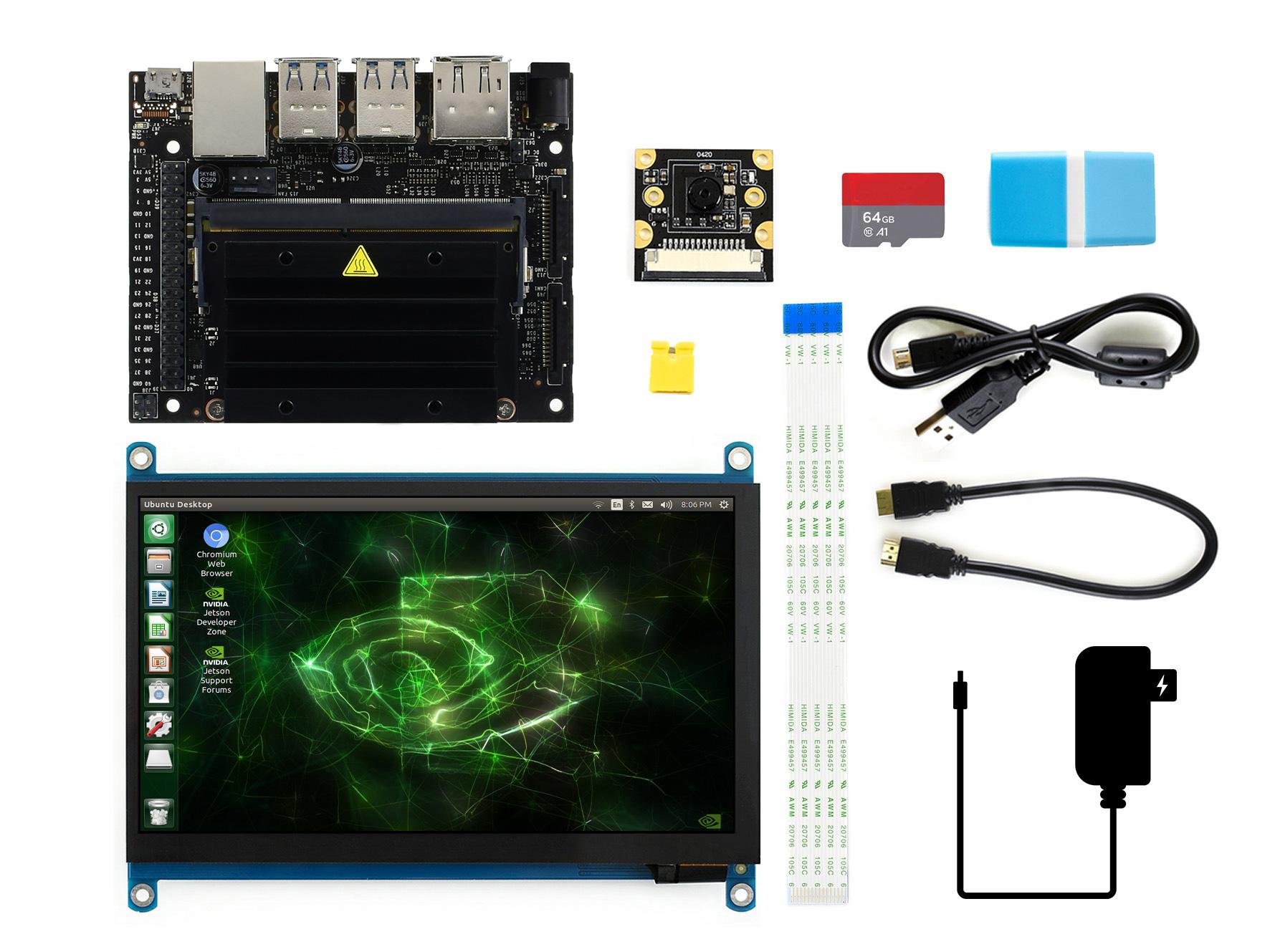英伟达 Jetson Nano Developer Kit 摄像头显示屏套餐
