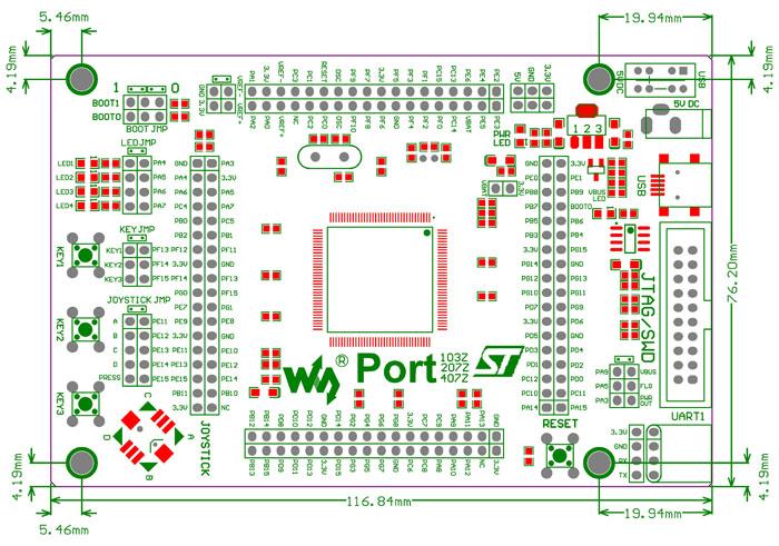 port103z stm32 开发板