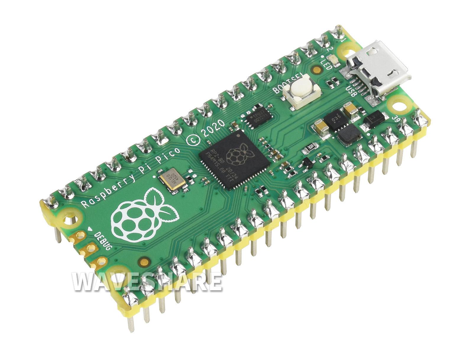 树莓派Pico Raspberry Pi Pico 微控制器开发板带排针 基于官方RP2040双核处理器