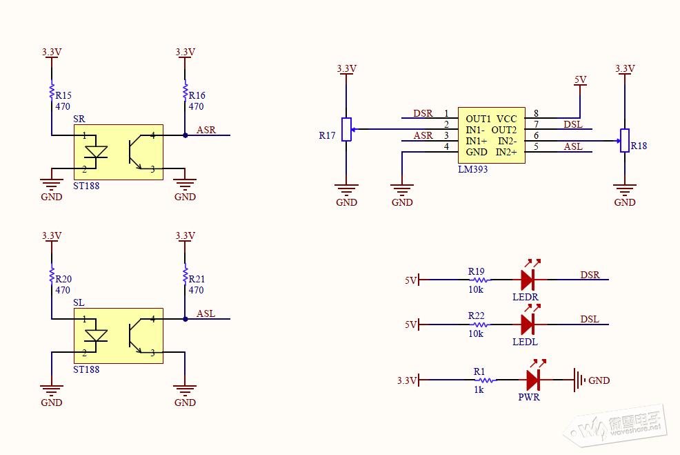 以上时序图表明超声波的控制原理。模块工作时 IO 口给至少 10us 的高平信号控制 TRIG 触发测距。模块将自动发射 8 个 40kHz 的方波,并且自动检测是否有信号返回。若有信号 返回,通过 ECHO 输出一个高电平,而高电平的持续时间就是超声波发射到返回的时间。根据声音传播的速度和时间我们可以测出距离:测量距离=(测量时间*声音速度)/2。声 音的传播速度通常按 340m/s 来计算。