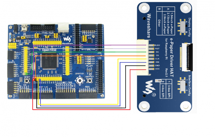 E-paper driver hat to stm32 connet.png